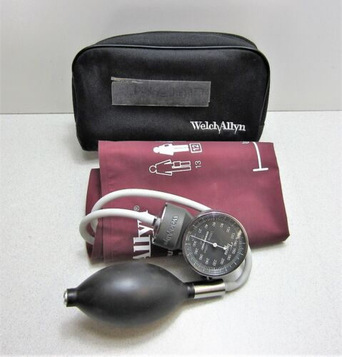Welch Allyn Handheld Gauge Sphygmomanometer with Large Adult 12 Cuff & Case