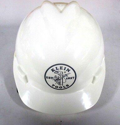 Construction Hard Hats With Logo (Klein Tools V-Gard Hard Cap with Klein Lineman Logo, White 60019)