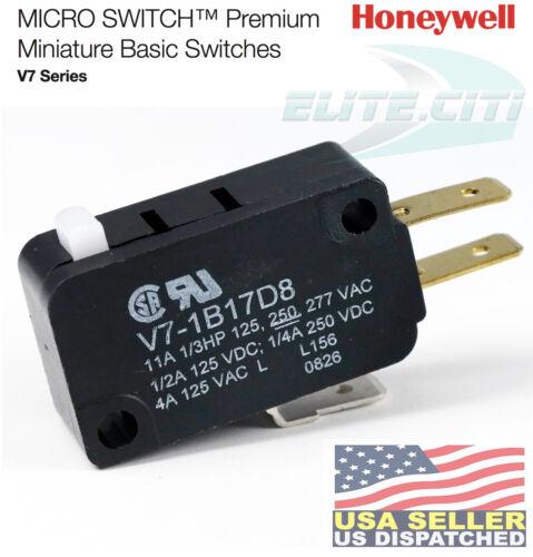 HONEYWELL V7-1B17D8 Premium Mini Snap Swch,3A,SPDT,Pin Plngr