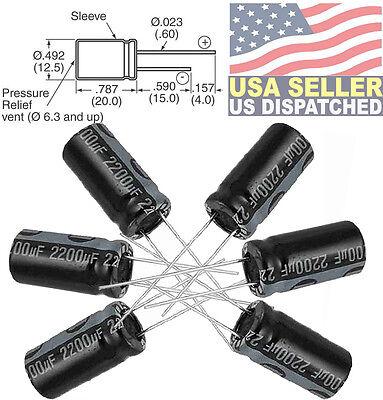 Nichicon Radial Electrolytic Capacitors 2200uf 3300uf 470uf 10v 16v 25v 35v