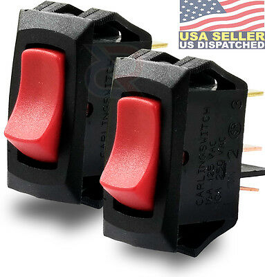 Carling Lra911-rs-b 125n 3 Connection Lighted Rocker Switch Spst 16a Pack Of 2