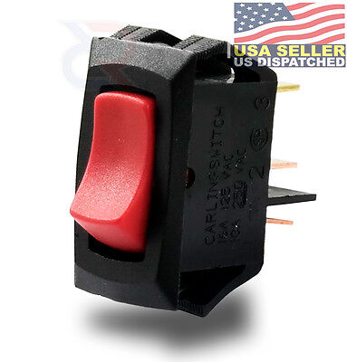 Carling Technologies 3 Connections Lra911-rs-b120n Lighted Rocker Switchspst