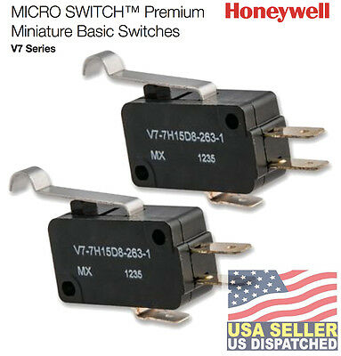 2pcs Honeywell V7-7h15d8-263-1 Mini Snap Swch3aspdtpin No Seal Pin Plunger