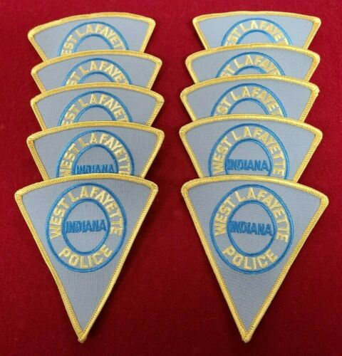 WEST LAFAYETTE INDIANA IN Trade Stock 10 police patches POLICE PATCH