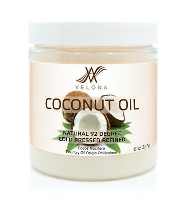 COCONUT OIL 92 DEGREE 8 oz NATURAL CARRIER REFINED COLD PRES