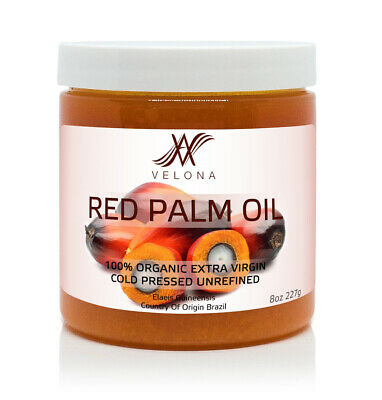 Red Palm Oil 8 oz 100% NATURAL Extra VIRGIN Cold Pressed Unrefined in jar Health & Beauty
