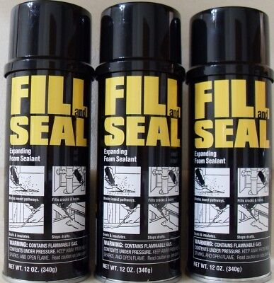 New - 3 Dow Fill And Seal Expanding Foam Sealant Insulation 12oz