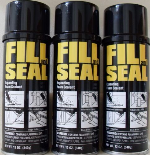 NEW - (3) Dow Fill and Seal Expanding Foam Sealant Insulation, 12oz