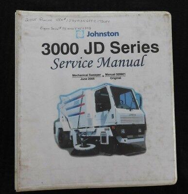 Johnston John Deere Vanguard 3000 Jd Series Street Sweeper Broom Service Manual