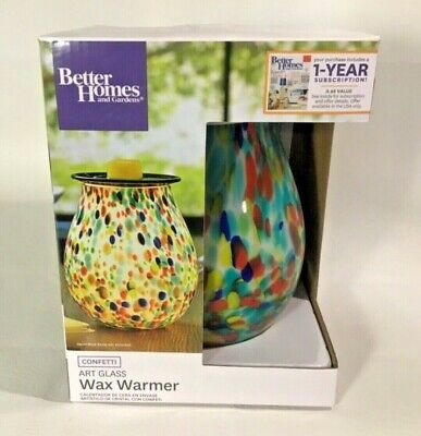 Full Size Scented Wax Warmer by Better Home & Garden, Art Glass- Confetti