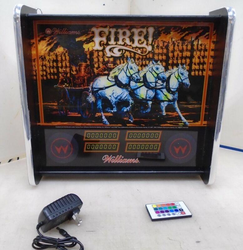 Williams Fire Pinball Head LED Display light box