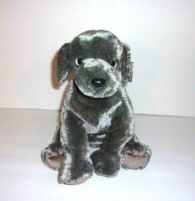 Ty Beanie Buddies Frisbee Gray Puppy Dog Plush 11