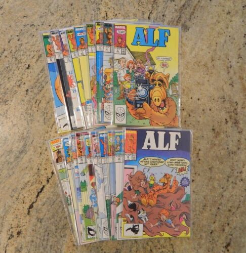 Lot of 19 Vintage Marvel ALF Comic Books
