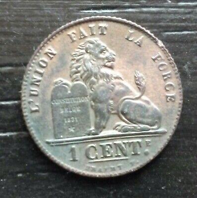 monnaie munt Belgique Belgie 1 cent 1914 légende française