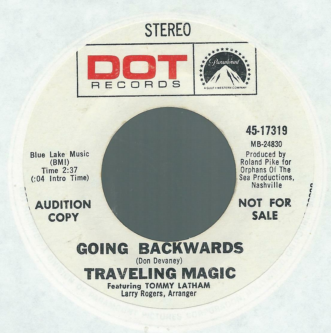 45 60s Psych TRAVELING MAGIC Going Backwards Anti-COUNTERCULTURE Rant VG  - $15.15
