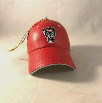 NORTH CAROLINA NC STATE WOLFPACK * RESIN BASEBALL CAP * NCAA CHRISTMAS - State Baseball Cap Ornament