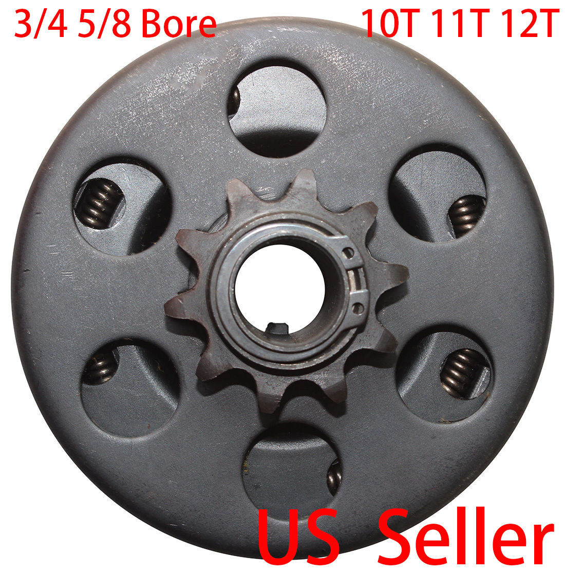 Centrifugal Engine Clutch 5//8 Shaft and 10 Tooth 40//41//420 Chain Sprocket for Go-Karts Mini Bike Lawnmower Engine