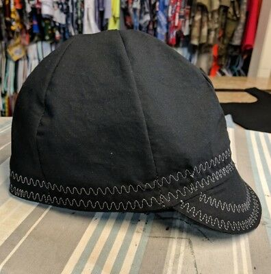 Wendys Welding Hats Made With Solid Black Fabric Grey Stitching New