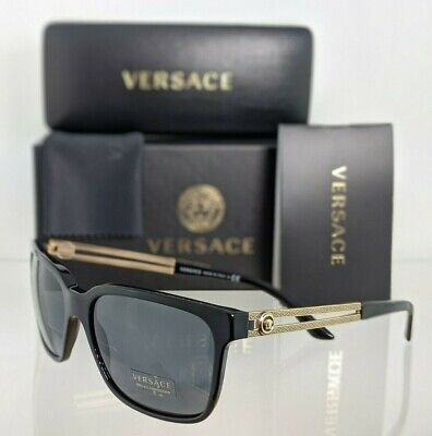 Brand New Authentic Versace Sunglasses Mod. 4307 GB 1/87 58mm Black & Gold Frame