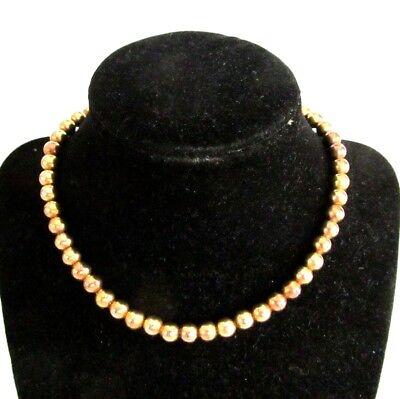 14k Gold Hidden Clasp - 7mm 14K Gold Rondelle Beads Chain Strung Hidden Clasp 14