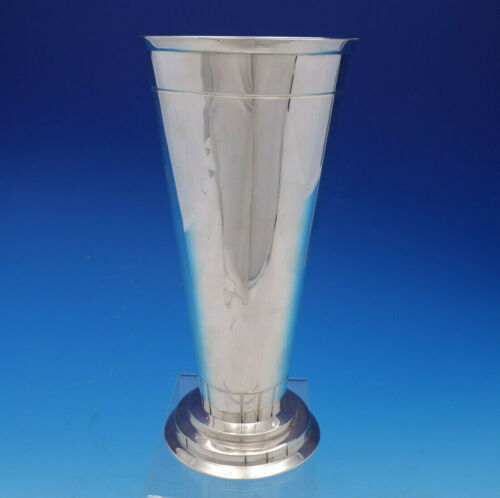 """Modern American By Eric Magnussen Sterling Silver Vase #A14072 10"""" (#4605)"""