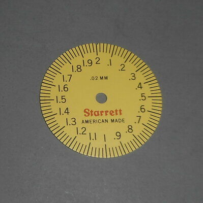 Starrett 120m-150 Dial Caliper Part Metric Dial Face 0-2 Mm Nos