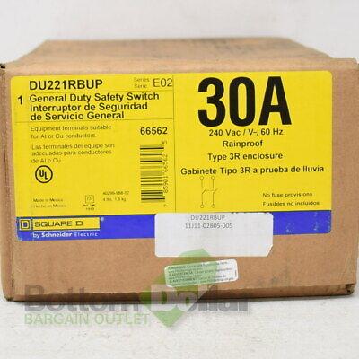 Square D Du221rbup 30a 240 Vacv 60 Hz Rainproof General Duty Safety Switch