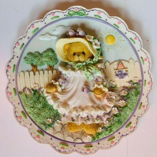 Cherished Teddies 203025 Mothers Day 3-D Plate 1997 Pristine Condition NIB 🌼