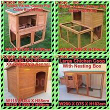Rabbit, Ferret, Guinea Pig Hutches, Chicken Coop and Dog Kennels Rosewater Port Adelaide Area Preview