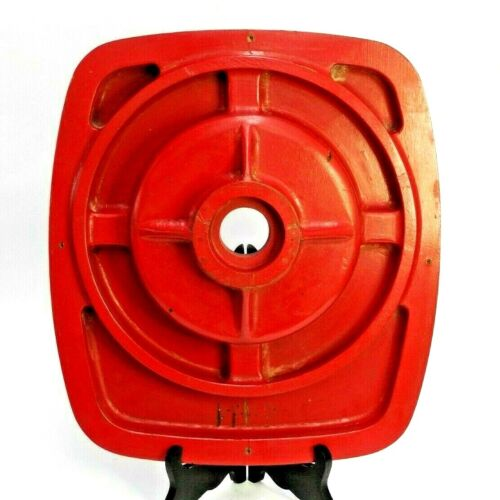 C984 RED PAINTED WOOD FOUNDRY MOLD INDUSTRIAL SCULPTURE PATTERN MODERN ART