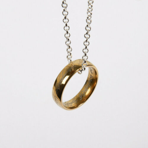 🔥The One Ring: Movie Replica with Necklace & Box • Lord of the Rings • Size 9