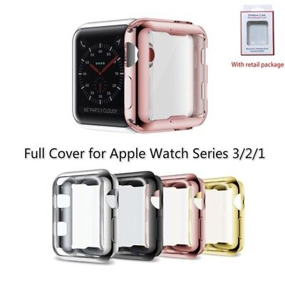iWatch Apple Watch Series 3 2 1color protector Cover Case with Screen 38mm 42mm Color Cell Phone Cover Case