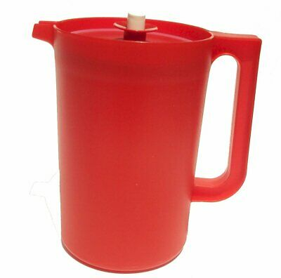Tupperware 2 Quart Pitcher with Push Top in Red color -- NEW