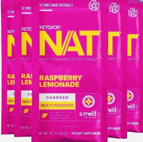 Pruvit Keto OS Ketones- Raspberry Lemonade- 10 Sachets Caffeine