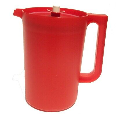Tupperware 2 Quart Classic Push Button Pitcher Bold Red - New