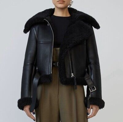 "Acne Studios ""Raf"" Shearling Leather Jacket - NWT Size 36 (S/M)"