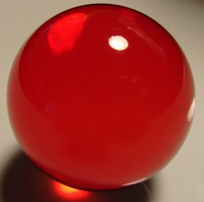 Marbles 1 Huge Art Glass Collector Ruby Red Gem Boulder 1-1/2 Play Gift Display