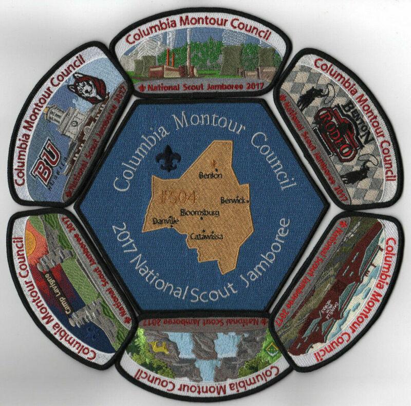 2017 National Scout Jamboree Columbia Montour Council 7 Pc. JSP Set [NJ2012]