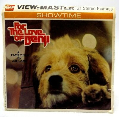 View-Master H54, For the Love of Benji, Showtime, 3 Reel Set