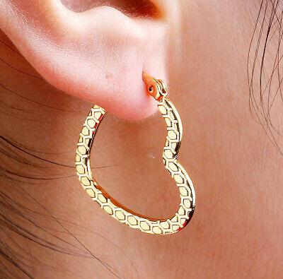 Heart Gold Stainless Steel Hypoallergenic Earrings Post Pierced GRADE A+ HOT