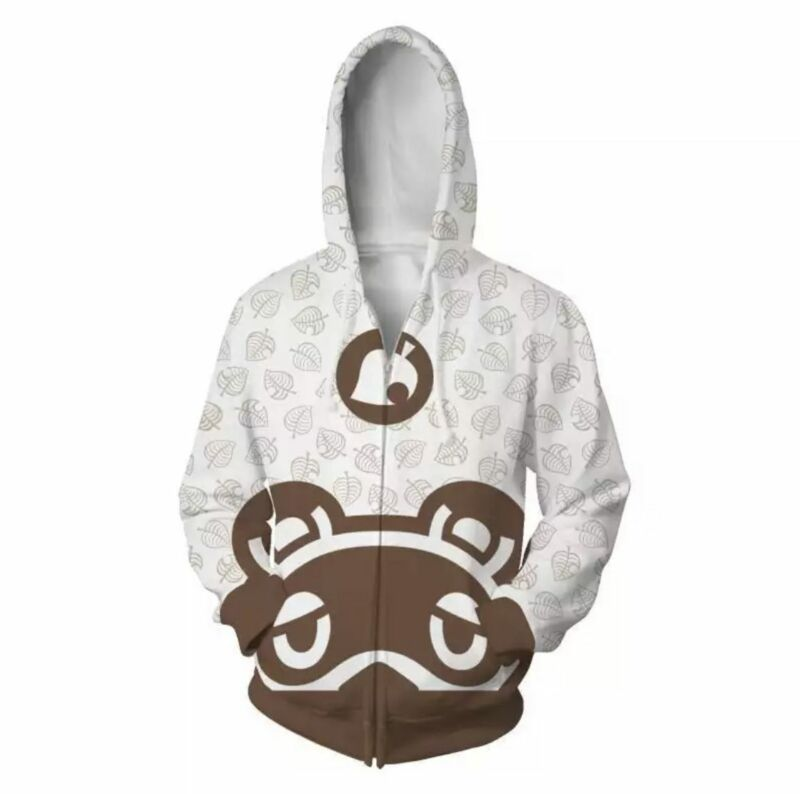 ANIMAL CROSSING INSPIRED ZIP UP HOODIE SIZE LARGE NEW!