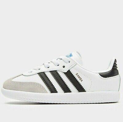 ⚪ ⚫ 2019 Adidas Originals Samba OG Infant ( Size UK 8 EUR 25.5 ) White / Black