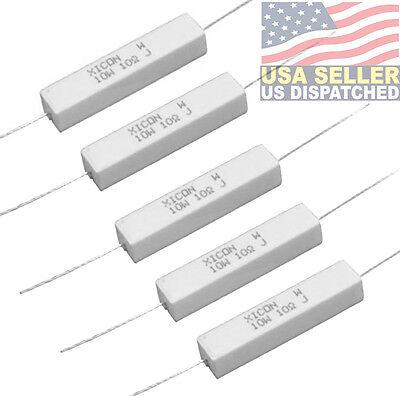 Xicon 10 Ohm 10w Ceramic Resistor Wire Wound 5 Tolerance New