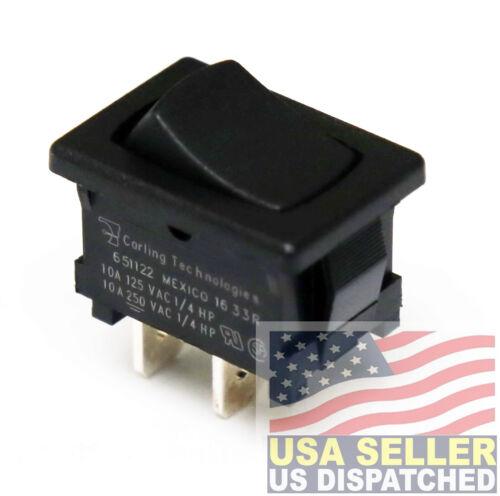 Carling Technologies 651122-BB-0N Switch,Rocker,Spst,10a,250v,Black