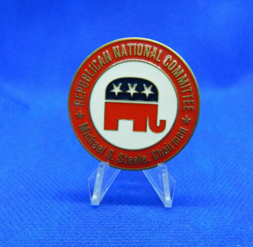 """REPUBLICAN NATIONAL COMMITTEE *MICHAEL STEELE,CHAIRMAN* FIRE PELOSI 1.75"""" COIN"""