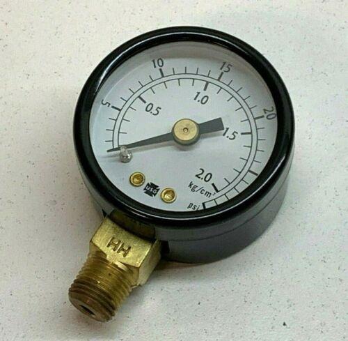 """Ametek 146034A Pressure Gauge 1-1/2"""" Diameter 30PSI, 2.0 kg/cm², 1/8"""" NPT"""