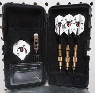 Viper Darts 24 gram Elite Steel Tip Dart Set with Black Widow Flights