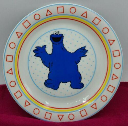 """Vintage Sesame Street COOKIE MONSTER 8.5"""" Porcelain Plate JMP Marketing Japan"""