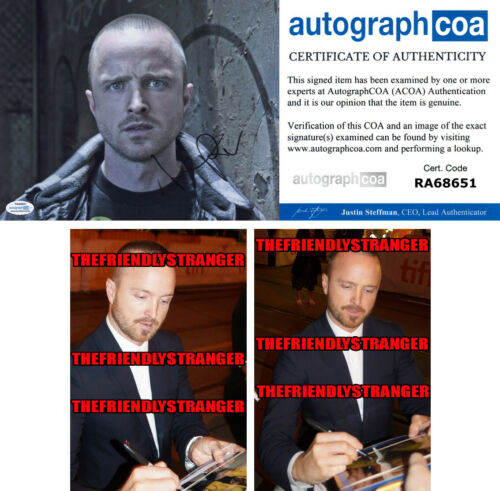 "AARON PAUL signed Autographed ""BREAKING BAD"" 8X10 PHOTO c PROOF - Westworld ACOA"
