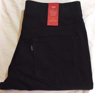 LEVI'S PERFECTLY SLIMMING PULL-ON Skinny Pants - Women's 10 / 30 Medium NWT